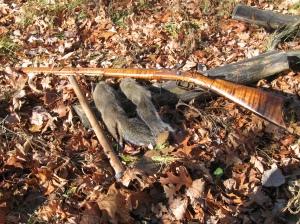 A brace of black powder squirrels.