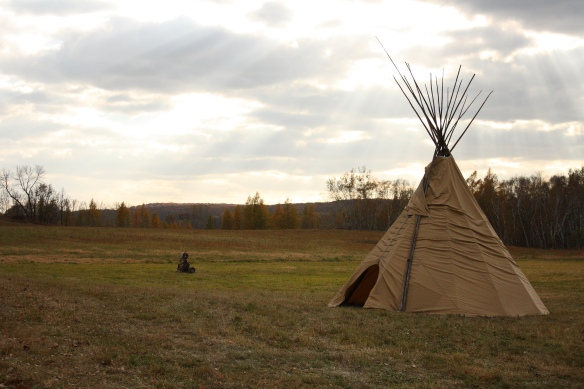 A tipi brought by a local mountain man lended authenticity to this year's event.